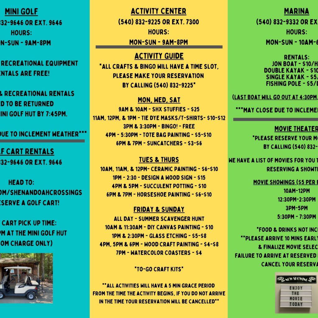 Activity Guide Summer 1